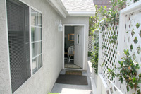 Entry to Carlsbad Beach Cottage