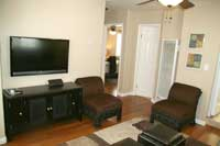 Flat Screen TV and Entertainment Center